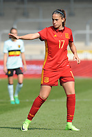 20170408 - EUPEN ,  BELGIUM : Spanish Olga Garcia  pictured during the female soccer game between the Belgian Red Flames and Spain , a friendly game before the European Championship in The Netherlands 2017  , Saturday 8 th April 2017 at Stadion Kehrweg  in Eupen , Belgium. PHOTO SPORTPIX.BE | DIRK VUYLSTEKE