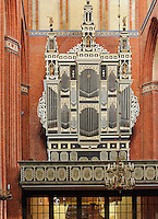 Orgel in St.Nikolai in Wismar, Mecklenburg-Vorpommern, Deutschland, UNESCO-Weltkulturerbe