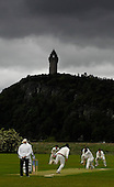 Scottish National Cricket League, First Division - Stirling County V Forfarshire, at New Williamfield, Stirling, playing in a rain-affected match, in the shadow of the Wallace Monument - Picture by Donald MacLeod - 23 May 2009