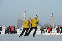 SCHAATSEN: HINDELOOPEN: IJsselmeer, 26-01-2010, NK Schoonrijden, © Martin de Jong