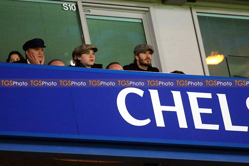 David Beckham looks on from the Stand during Chelsea vs Manchester United, Emirates FA Cup Football at Stamford Bridge on 13th March 2017