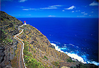Makapuu lighthouse along windward coastline, Oahu