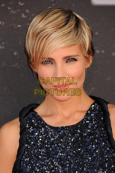 "Elsa Pataky.""Fast & Furious 6"" Los Angeles Premiere held at the Universal Gibson Amphitheatre, Universal City, California, USA..May 21st, 2013.headshot portrait black blue sleeveless beads beaded embellished jewel encrusted .CAP/ADM/BP.©Byron Purvis/AdMedia/Capital Pictures"