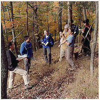 Students in Field Study. Yale School of Forestry & Environmental Studies. Viewbook Illustration