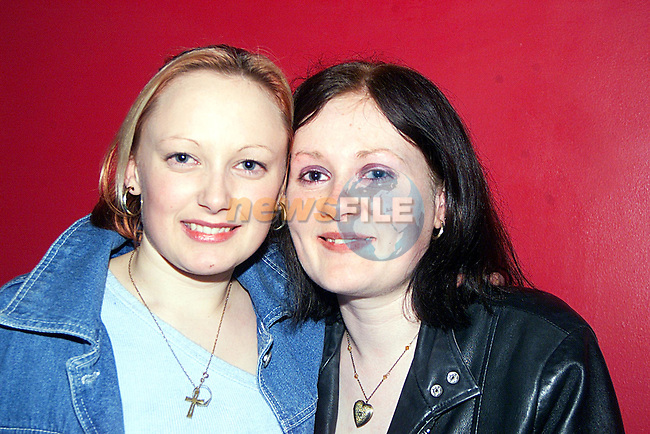 Jacqueline Kelly and Jacqueline O'Brien enjoying a night Storm ...Pic Newsfile