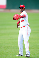 Lowell Spinners right fielder Luis Alexander Basabe (16) during a game versus the Auburn Doubledays at Lelacheur Park on July 25, 2015 in Lowell, Massachusetts. (Ken Babbitt/Four Seam Images)