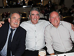 John Hoey, Paul Kenny and Alan Guildea at a dinner in honour of retired firemen held in the Glenside hotel. Photo: Colin Bell/pressphotos.ie