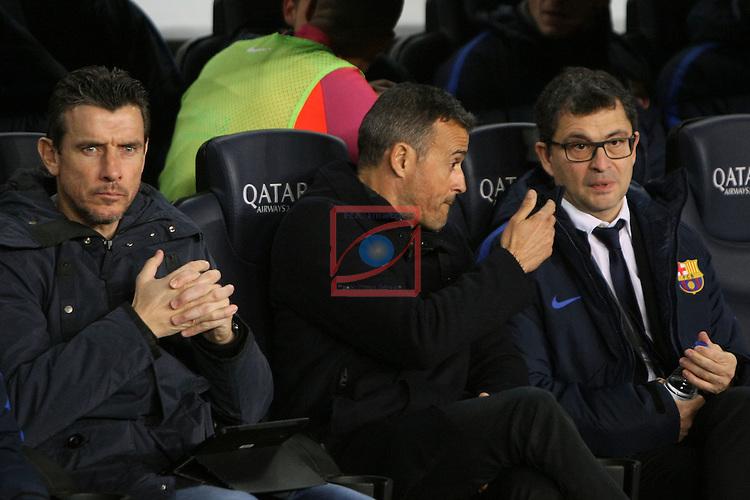 League Santander 2016/2017. Game: 16.<br /> FC Barcelona vs RCD Espanyol: 4-1.<br /> Juan Carlos Unzue, Luis Enrique Martinez &amp; Ricard Pruna.