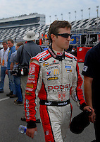 Feb 10, 2007; Daytona, FL, USA; Nascar Nextel Cup driver Kasey Kahne (9) during practice for the Daytona 500 at Daytona International Speedway. Mandatory Credit: Mark J. Rebilas