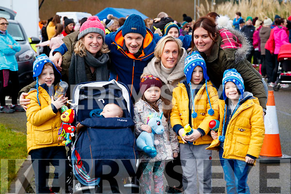 Tommy, Jack, Marilyn, Kieran and Michaela Moynihan with Lorraine Sheehan, Conor Moynihan, Liz Moynihan and John Moynihan, pictured at the Operation Transformation Walk at Tralee Bay Wetlands on Saturday morning last.