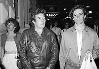 ***FILE PHOTO*** Albert Finney Has Passed Away at 82<br /> Albert Finney, Michael O'Keefe and Janet Suzman take in a Broadway Show in New York City.<br /> September 30, 1981 <br /> CAP/MPI/WMB<br /> ©WMB/MPI/Capital Pictures
