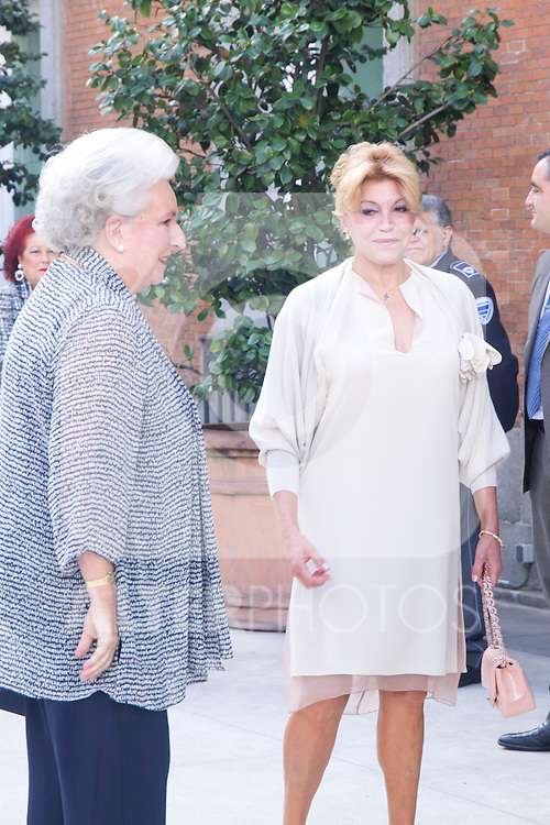 08.10.2012. Spanish Royals, Juan Carlos and Sofia, preside the ceremony commemorating the 20th anniversary of the Thyssen-Bornemisza Museum located in the Villahermosa Palace, in Madrid, Spain. In the image Princess Pilar de Borbon (Duchess of Badajoz) and Carmen Thyssen-Bornemisza. (Alterphotos/Marta Gonzalez)