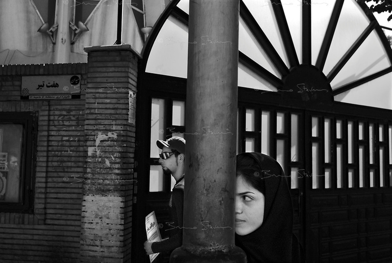Teheran, Iran, September 27, 2007..Street scene.