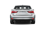 Straight rear view of a 2015 Lexus IS 350 4 Door Sedan stock images