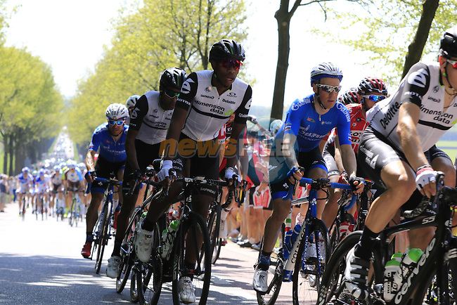 The peloton at Deelen during Stage 2 of the 2016 Giro d'Italia running 190km from Arnhem to Nijmegen, The Nethrerlands. 7th May 2016.<br /> Picture: Eoin Clarke | Newsfile<br /> <br /> <br /> All photos usage must carry mandatory copyright credit (&copy; Newsfile | Eoin Clarke)