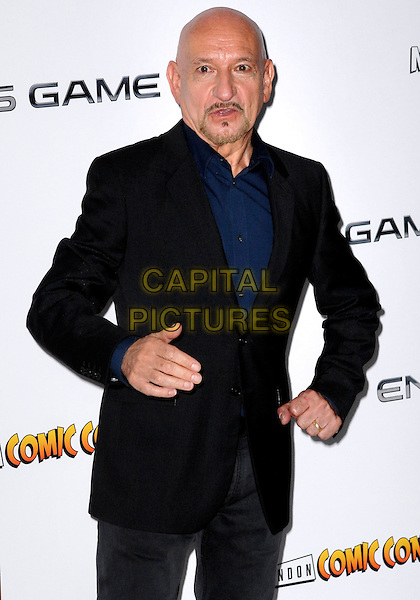 Sir Ben Kingsley<br /> The &quot;Ender's Game&quot; fan event &amp; photocall, Odeon Leicester Square cinema, Leicester Square, London, England.<br /> October 7th, 2013<br /> half length black suit jacket hand arm goatee facial hair <br /> CAP/PP/GM<br /> &copy;Gary Mitchell/PP/Capital Pictures