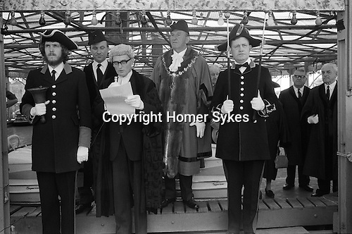 Southwold Trinity Fair, Southwold, Suffolk, England 1973. The Opening of the Charter Fair.<br />
