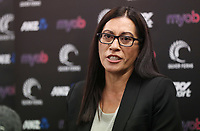 30.08.2018 Silver Ferns coach Noeline Taurua press conference in Auckland. Mandatory Photo Credit ©Michael Bradley.