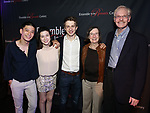 "Ji, Stephanie Zyzak, Ari Evan,  Susan Winokur Leach and Paul J. Leach attends the Opening Night After Party for the Ensemble for the Romantic Century production of ""Tchaikovsky: None But the Lonely Heart"" Off-Broadway Opening Night  at West Bank Cafe on May 31, 2018 in New York City."