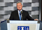 Mayor Jim Kenney (Democrat of Philadelphia, Pennsylvania) makes remarks at the 2016 Democratic National Convention at the Wells Fargo Center in Philadelphia, Pennsylvania on Monday, July 25, 2016.<br /> Credit: Ron Sachs / CNP<br /> (RESTRICTION: NO New York or New Jersey Newspapers or newspapers within a 75 mile radius of New York City)