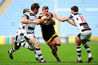 Brendan Macken of Wasps takes on the Yorkshire Carnegie defence. Pre-season friendly match, between Wasps and Yorkshire Carnegie on August 21, 2016 at the Ricoh Arena in Coventry, England. Photo by: Patrick Khachfe / JMP