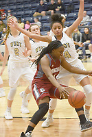 NWA Democrat-Gazette/FLIP PUTTHOFF <br /> Jeniya Gause moves on offense Tuesday Jan. 8 2019 for the Springdale Lady Bulldogs.