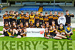 Austin Stacks team celebrate after defeating Killarney Legion in the u16 Div 1 County Coiste na NÓg final in Fitzgerald Stadium on Saturday