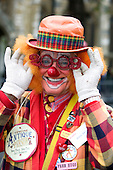 Clown at London Parade on 1 January 2009. London Parade is a New Year's Day Parade in Central London with participants from all over the world.