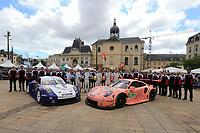 #91 PORSCHE GT TEAM (DEU) PORSCHE 911 RSR GTE PRO RICHARD LIETZ (AUT) GIANMARIA BRUNI (ITA) FREDERIC MAKOWIECKI (FRA) #92 PORSCHE GT TEAM (DEU) PORSCHE 911 RSR GTE PRO MICHAEL CHRISTENSEN (DNK) KEVIN ESTRE (FRA) LAURENS VANTHOOR (BEL)