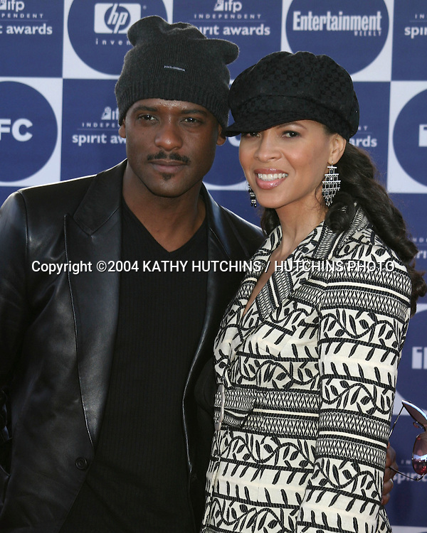 ©2004 KATHY HUTCHINS /HUTCHINS PHOTO.2004 IFP INDEPENDENT SPIRIT AWARDS.SANTA MONICA, CA.FEBRUARY 28, 2004..DESIREE AND BLAIR UNDERWOOD