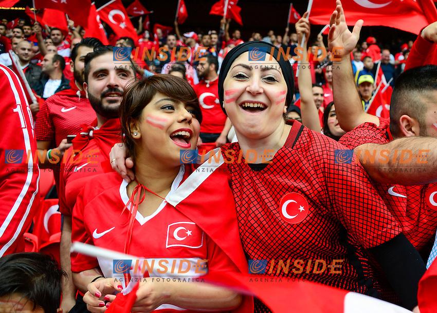 Tifosi Turchia Supporters <br /> Paris 12-06-2016 Parc des Princes Football Euro2016 Turkey - Croatia / Turchia - Croazia Group Stage Group D. Foto Panoramic / Insidefoto