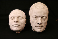 BNPS.co.uk (01202 558833)<br /> Pic: ThomsonRoddick/BNPS<br /> <br /> 19th century plaster death mask head of a man sold for &pound;2,000.<br /> <br /> These disturbing Victorian plaster cast heads of notorious criminals are a far cry from today's bland mugshots of lowlifes.<br /> <br /> Two of the heads have been identified as Benjamin Courvoisier, a serial killer in the mould of Jack the Ripper, and coachman Daniel Good who mutilated his pregnant mistress. <br /> <br /> In total, nine heads were discovered at an outbuilding at a rural home just outside Penrith, Cumbria, which have now fetched almost &pound;40,000 at auction. <br /> <br /> Experts predicted the collection of heads would sell for &pound;2,000  but Courvoisier's head alone went for &pound;20,000.<br /> <br /> Two of the heads were made by the famous British exponent of phrenology, James De Ville, who built a private museum of more than 5,000 specimens.
