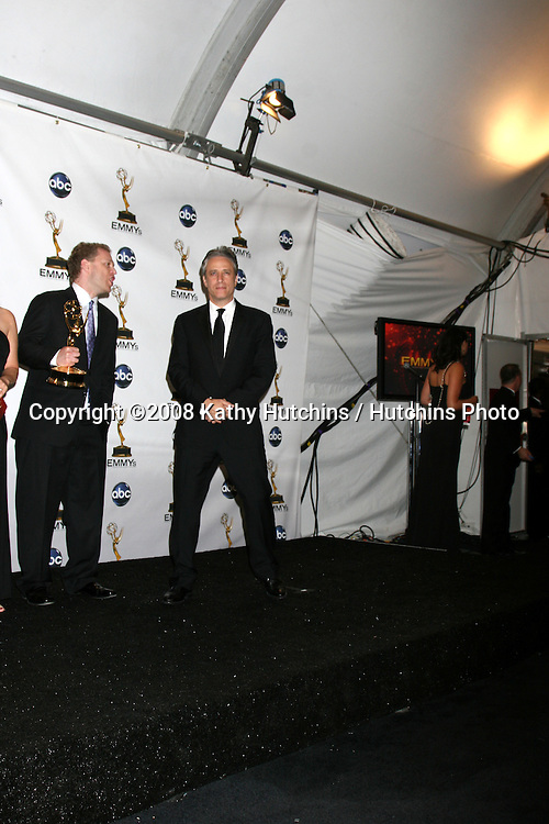 Jon Stewart.in the Press Room  at the Primetime Emmys at the Nokia Theater in Los Angeles, CA on.September 21, 2008.©2008 Kathy Hutchins / Hutchins Photo....