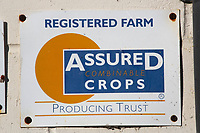 Assured Crops sign on a farm office<br />