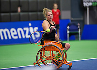 Rotterdam,Netherlands, December 15, 2015,  Topsport Centrum, Lotto NK Tennis,  Michaela Spaanstra (NED)<br /> Photo: Tennisimages/Henk Koster