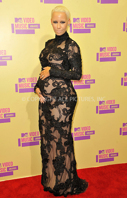 WWW.ACEPIXS.COM....September 6, 2012, Los Angeles, CA.......Amber Rose arriving at the 2012 MTV Video Awards at the Staples Center on September 6, 2012 in Los Angeles, California. ..........By Line: Peter West/ACE Pictures....ACE Pictures, Inc..Tel: 646 769 0430..Email: info@acepixs.com