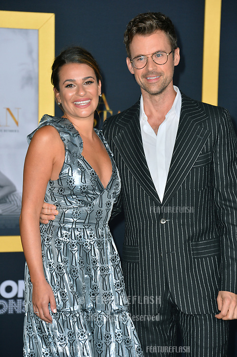 """LOS ANGELES, CA. September 24, 2018: Lea Michele & Guest at the Los Angeles premiere for """"A Star Is Born"""" at the Shrine Auditorium.<br /> Picture: Paul Smith/Featureflash"""