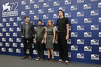 From, left, directors Duke Johnson and Charlie Kaufman and actors Jennifer Jason Leigh and Tom Noonan attend a photocall for the movie 'Anomalisa' during the 72nd Venice Film Festival at the Palazzo Del Cinema in Venice, Italy, September 8, 2015 in Venice, Italy. <br /> UPDATE IMAGES PRESS/Stephen Richie