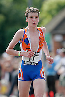 11 JUN 2006 - WINDSOR, GBR - Alistair Brownlee leads the field during the British Elite Mens Triathlon Championships held as part of the Windsor Triathlon (PHOTO (C) NIGEL FARROW)
