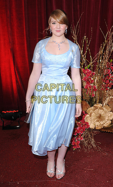 LORNA FITZGERALD.Arrivals at the British Soap Awards 2010, London Television Centre, London, England..May 8th, 2010.full length blue shiny dress silver sandals clutch bag .CAP/BEL.©Tom Belcher/Capital Pictures.