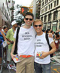 Empire The Series, the Internet's Hottest Soap Opera Returns This Summer 2012 for its 4th season - Sex.Scandal.Soap. Nick Lewis and Toby Levin -cast members of Empire The Series march in the NYC Gay Pride Parade 2012 on June 24, 2012 marches from Fifth Avenue and 38 to the Village, New York City, New York. Ceck them out at Empiretheseries.com (Photo by Sue Coflin/Max Photos)