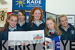 DEVELOPMENT: Students from St Joseph's Secondary School, Castleisland at the KADE Development Education workshops at the Tralee Education Centre on Friday, l-r: Nora O'Donoghue, Samantha Roche, Amy Whooley, Aisling Kirwan.   Copyright Kerry's Eye 2008