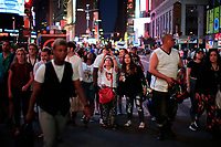 NEW YORK, NEW YORK - JULY 13: People take pictures  during a major power outage on July 13, 2019 in New York City. New Yorkers are without power as a major outage left portions of Manhattan, including Times Square and the Upper West Side with disrupting subway service across the city. (Photo by VIEWPRESS)