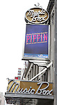 Theatre Marquee unveiling for 'Pippin',  The American Repertory Theatre's production of Pippin will play at the Music Box Theatre in New York City..Pippin has a book by Roger O. Hirson, music and lyrics by Stephen Schwartz, is directed by Diane Paulus with circus creation by Gypsy Snider of the Montreal-based circus company Les 7 doigts de la main (also known as 7 Fingers) and choreography by Chet Walker in the style of Bob Fosse. New York City on 1/9/2013