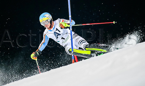 26.01.2016. Schladming, Ausria. FIS Mens Downhill slalom, Schladming World Cup. Felix Neureuther of Germany competes during his 1st run of men s Slalom Race of Schladming FIS Ski Alpine World Cup at the Planai in Schladming, Austria on 2016/01/26.