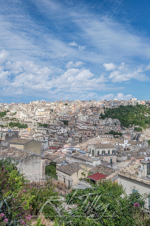 Europe, Italy, Sicily, Ragusa, View of Ragusa Upper Town