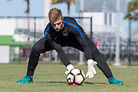 Lakewood Ranch, FL - Sunday Jan. 07, 2018: Sam Fowler during an U-19 USMNT training session at Premier Sports Campus in Lakewood Ranch, FL.