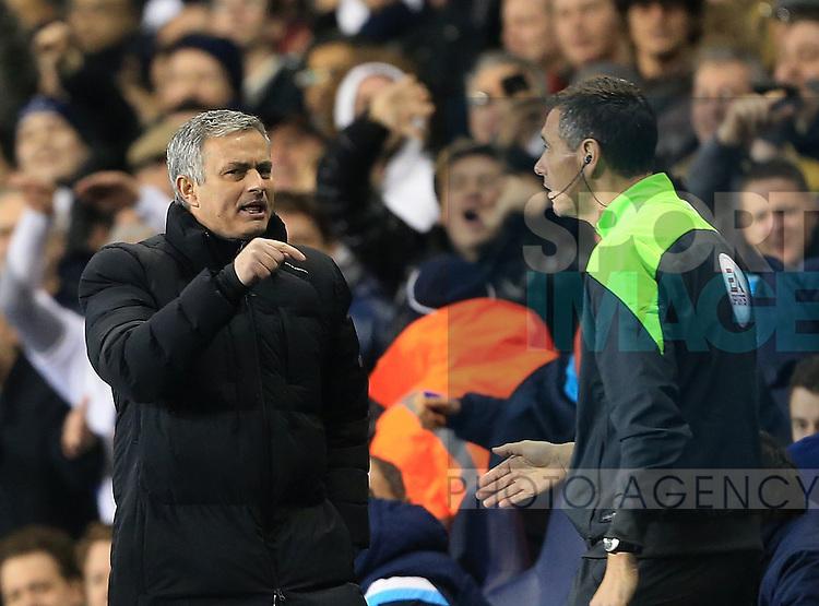 Chelsea's Jose Mourinho argues over a decision<br /> <br /> Barclays Premier League - Tottenham Hotspur vs Chelsea - White Hart Lane  - England - 1st January 2015 - Picture David Klein/Sportimage