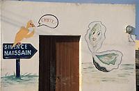 Europe/France/Bretagne/56/Morbihan/Presqu'île de Rhuys/Env de Sarzeau/Le Tour du Parc: Détail des cabanes ostréicoles