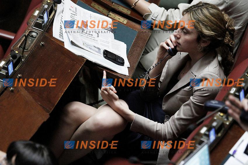 Marianna Madia.Roma 13/06/2012  Camera dei Deputati - Voto di  fiducia sulle norme sulla corruzione nella pubblica amministrazione.Foto Serena Cremaschi Insidefoto